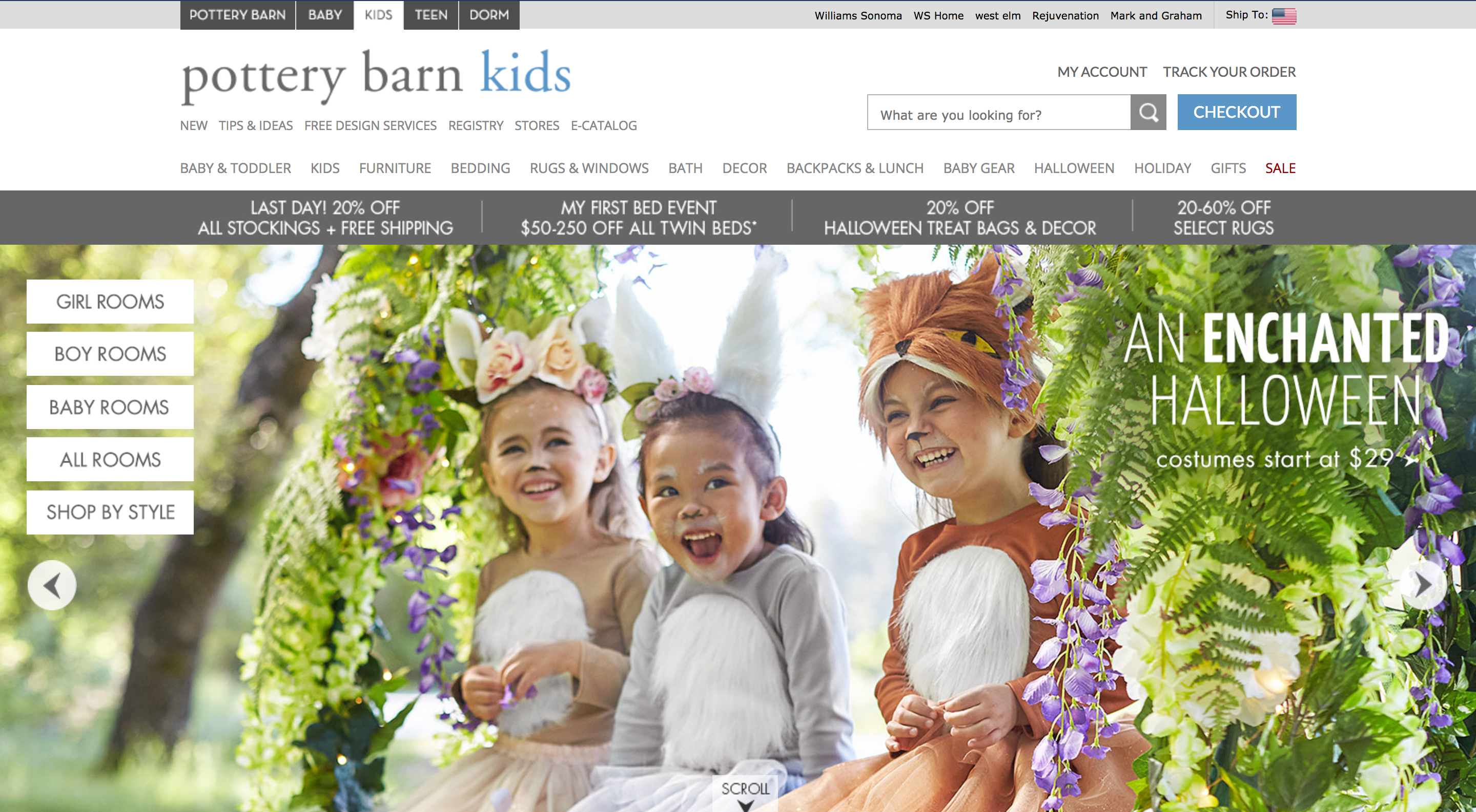 Pottery Barn Home Page