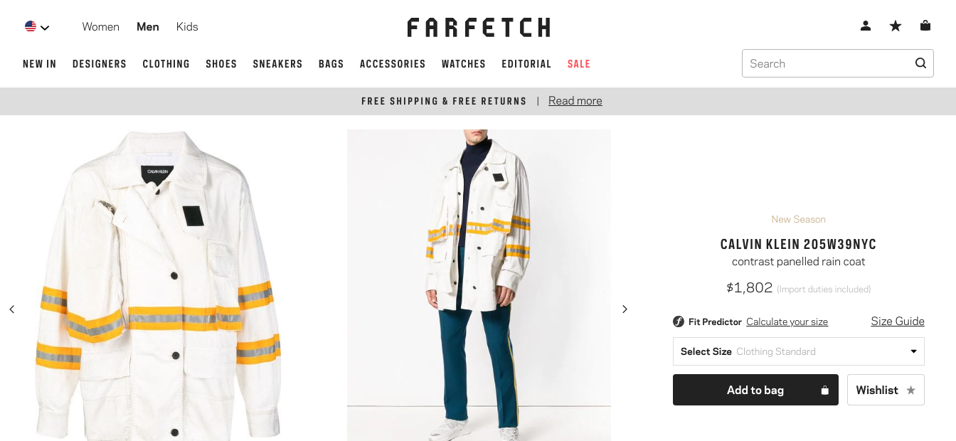 Farfetch High End Fashion Product