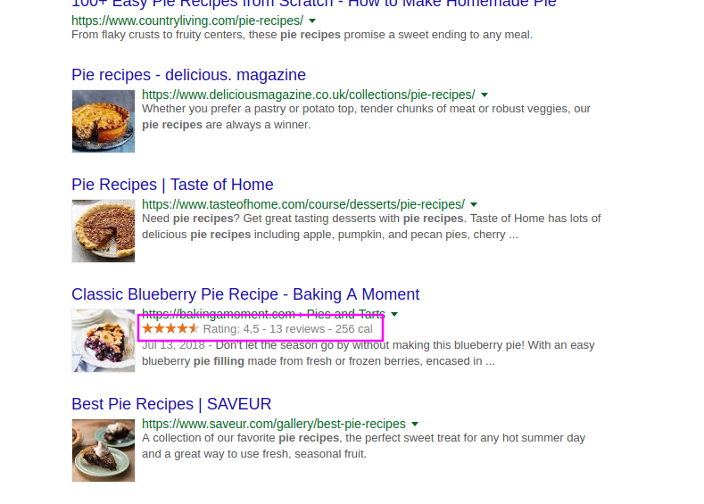 Pie Recipe Search Results